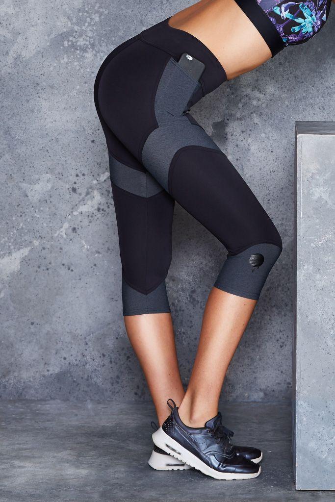 Spliced Charcoal Leggings - CAPPED PRESALE ($95AUD) by BlackMilk Clothing