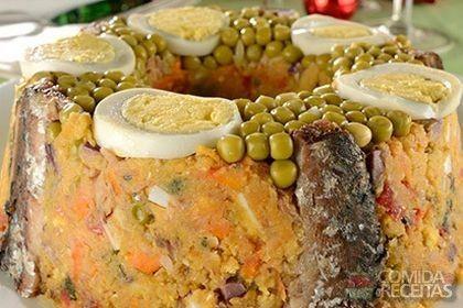 Receita de Cuzcuz de sardinha saboroso em receitas de salgados, veja essa e outras receitas aqui!