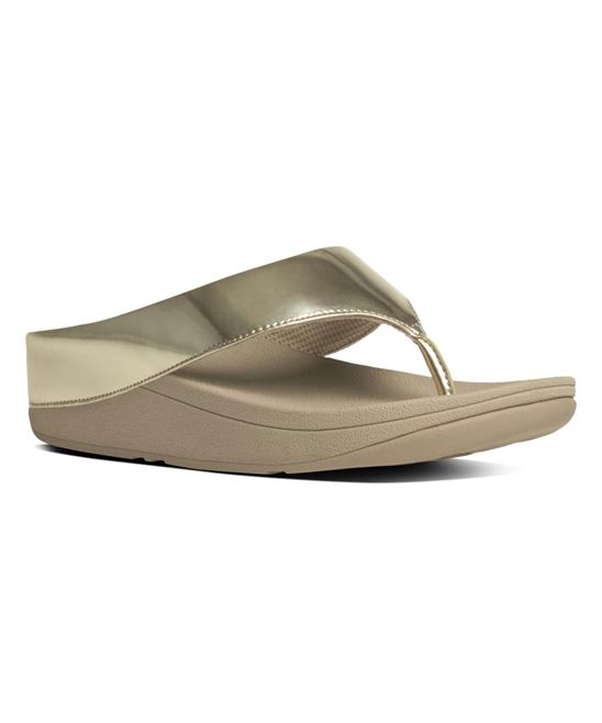 4e309ea293e4 FitFlop Gold Mirror Ringer Toe-Post Sandal - Women