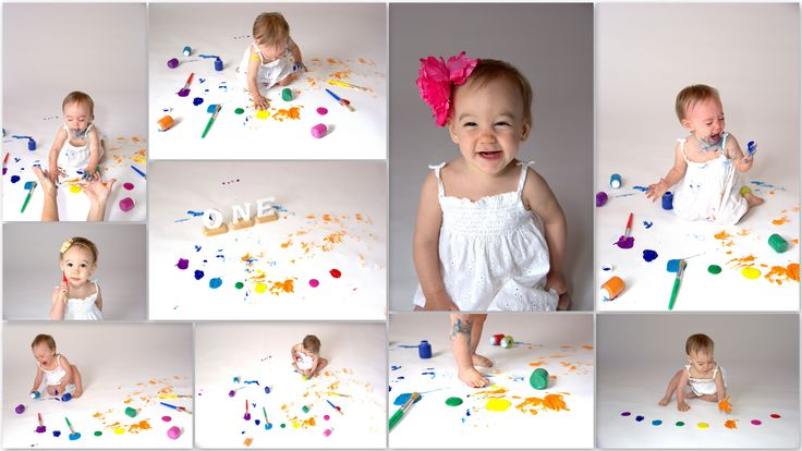 Try a paint smash instead of a cake smash!