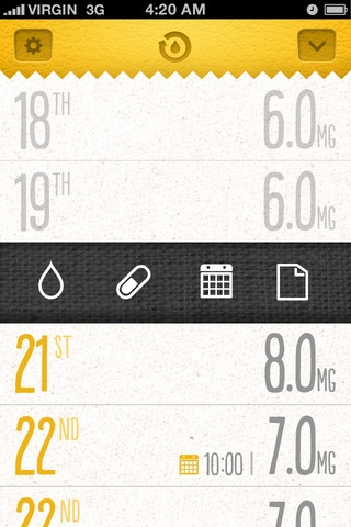 Daily dosage/ Pill  monitoring app #mobile #health #medical