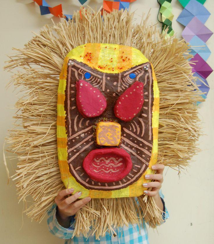 7th Grade Art, African Mask, Rye Middle School, 2011-2012