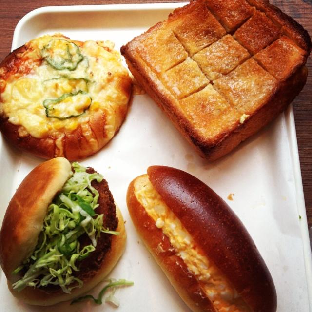 Assorted Japanese bread from my neighborhood bakery in #Azabujuban Tokyo ~ yummy #LovelylanvininTokyo