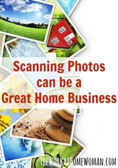Want to make money scanning photos? Here are some tips on getting started including the initial investment, income potential, and resources to help! via The Work at Home Woman