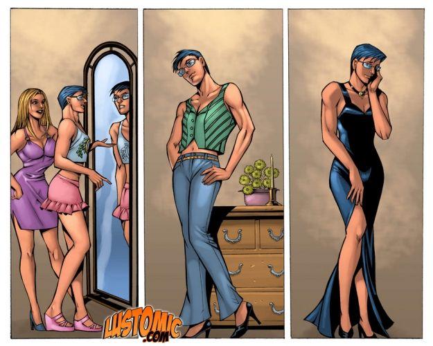 Transgender porn comics-8049