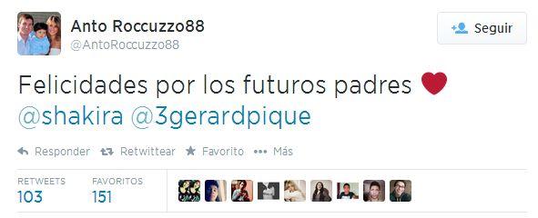 LAS CADERAS TABASCO: Esposa de Messi Felicita a Shakira y Gerard Piqué