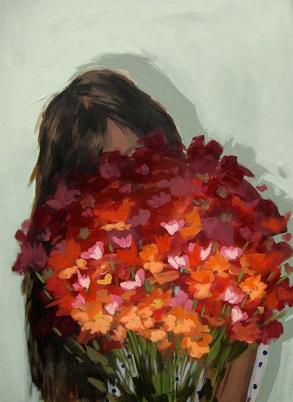 Arrangement .  16 x 20 extra large giclee art by ClareElsaesser, $65.00