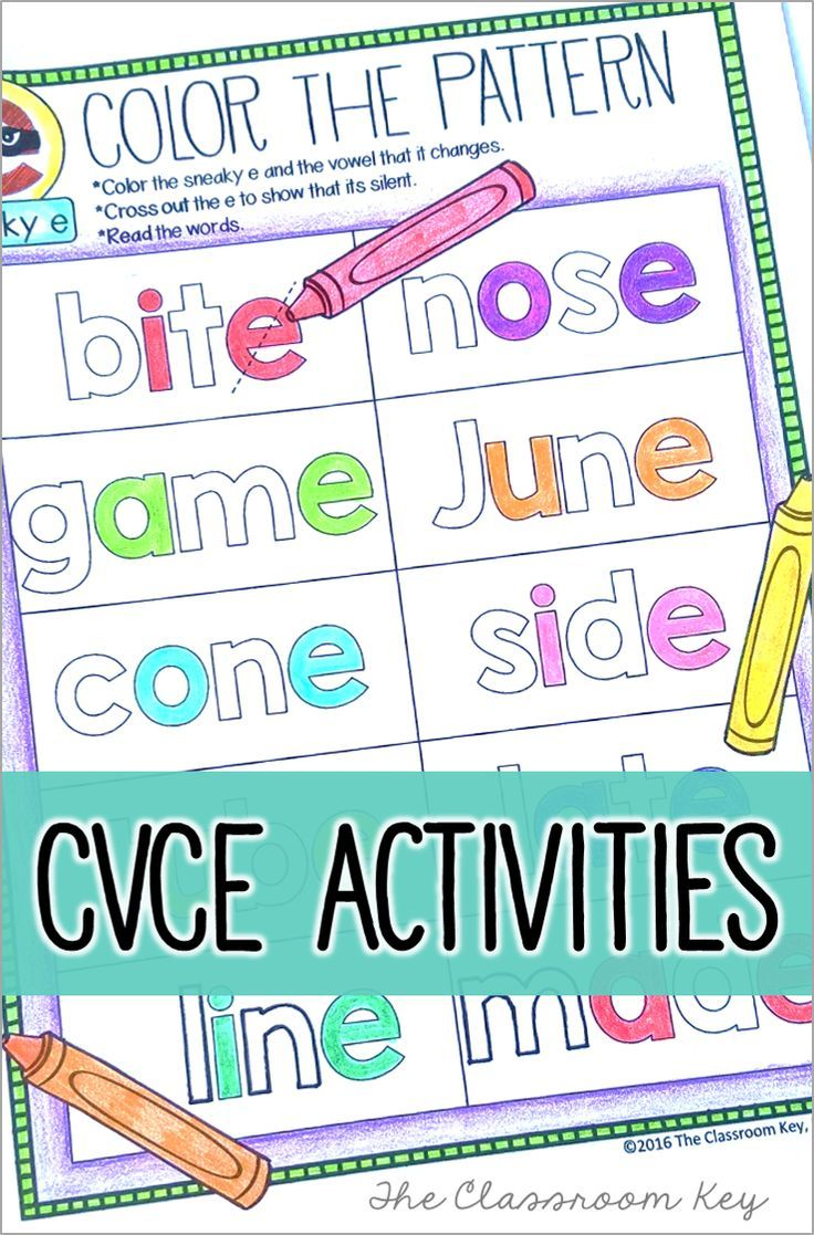 CVCe phonics activities ($) worksheets, posters, a tab book and assessments! Fun, no prep ways to teach sneaky e, silent e, super e