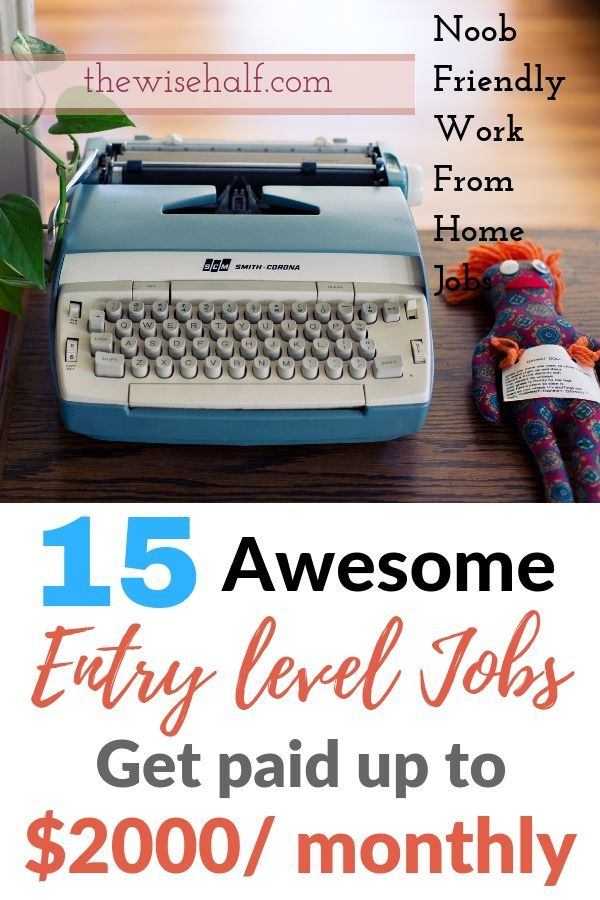 15 Entry Level Work From Home Jobs Requires Little To No