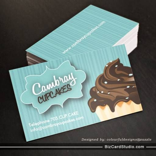 135 best cool business card idea images on pinterest business pretty cupcake business card reheart Images