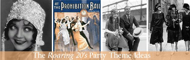 Use a roaring 20's party theme for an adult party. With the release of the Great Gatsby, this party theme is going to be very trendy this year. Lots of great ideas in this blog post. #party #theme #roaring20s