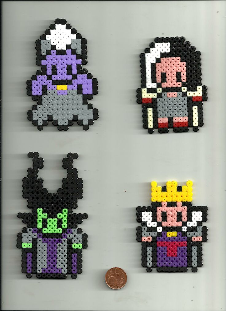Disney Female Villains perler beads from Pixelsior!