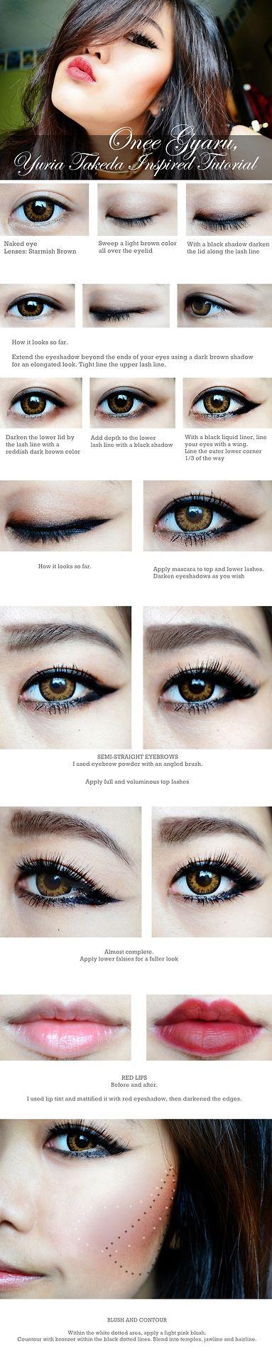 onee gyaru makeup