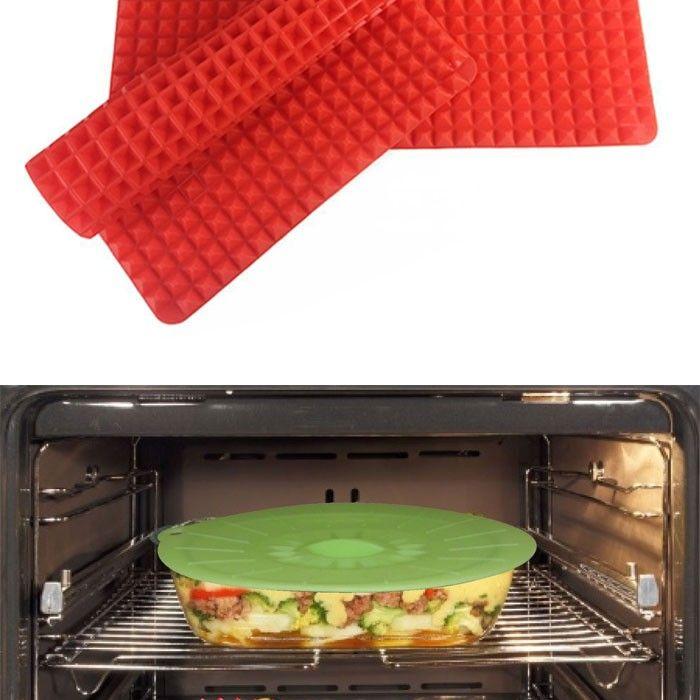 Hot Red Pyramid Bakeware Pan Nonstick Silicone Baking Mat Pad Kitchen Mat