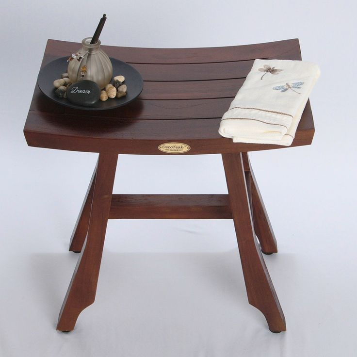 patent pending satori solid teak shower bench asia style u2013 x with adjustable foot pad levelers - Shower Stools
