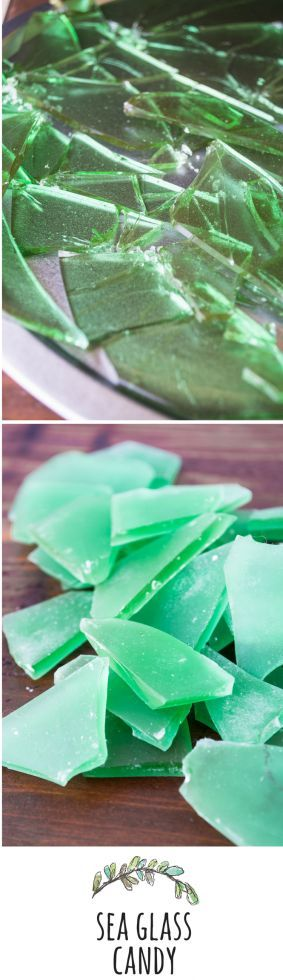 This candy looks EXACTLY like sea glass, and it's a fun and easy project!