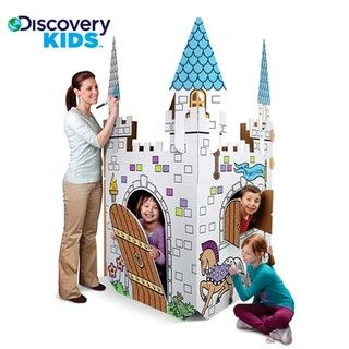 @Overstock - cardboard play castle by Discovery Kids.  Over six feet tall and includes three steeples and a working door. It sets up in minutes and folds away just as easily. For ages three and up.http://www.overstock.com/Sports-Toys/Discovery-Kids-Cardboard-Play-Castle/6014007/product.html?CID=214117 $27.49