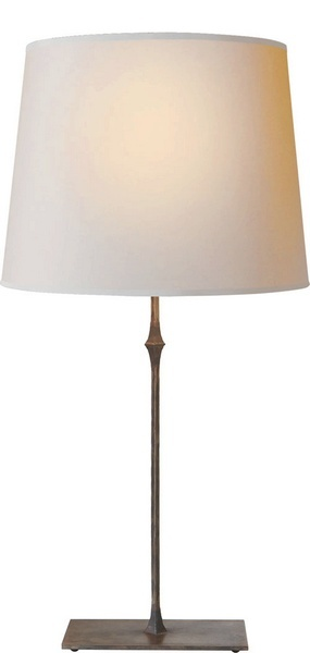 Aged Iron, Dauphine Table Lamp from the Studio collection