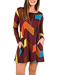 New joyliveCY Womens Long Sleeve Tunic Dress T-Shirt Dress Long Blouse Casual Tops With Pockets online. Find the perfect Mofavor Tops-Tees from top store. Sku BTIL91540WZTY74032