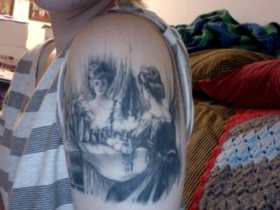 skull: Illusion Tattoo, Tattoo Ideas, Awesome Tattoo, Skull Tattoos, Body Art, A Tattoo