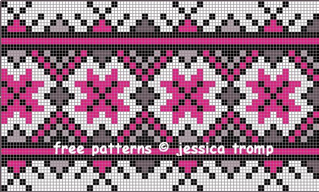 Мобильный LiveInternet Жаккардовые схемы от Джессики Тромп | Туземочка - Дневник Галины |