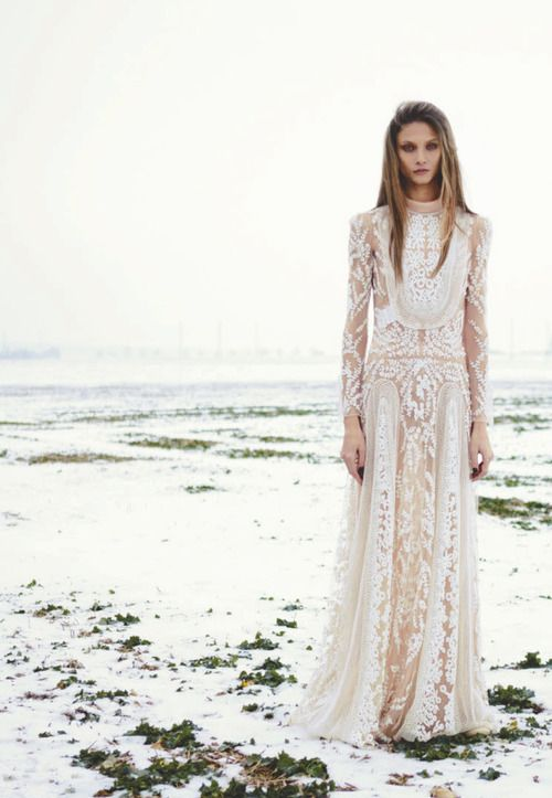 Long White Boho Chic Dress