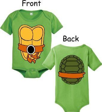 Teenage Mutant Ninja Turtles Green Michelangelo Costume Infant Baby