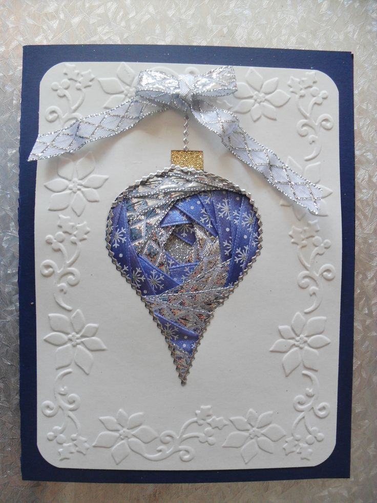 silver & blue iris folding ornament