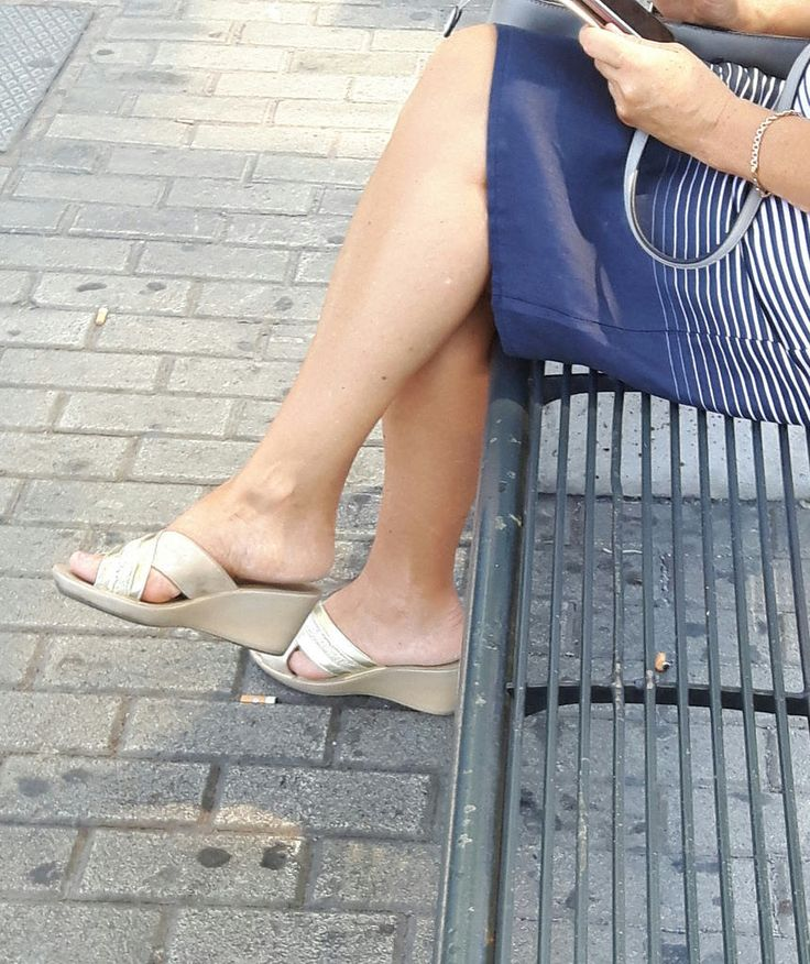 Candid Wedges Mature In 2019 Candid Legs