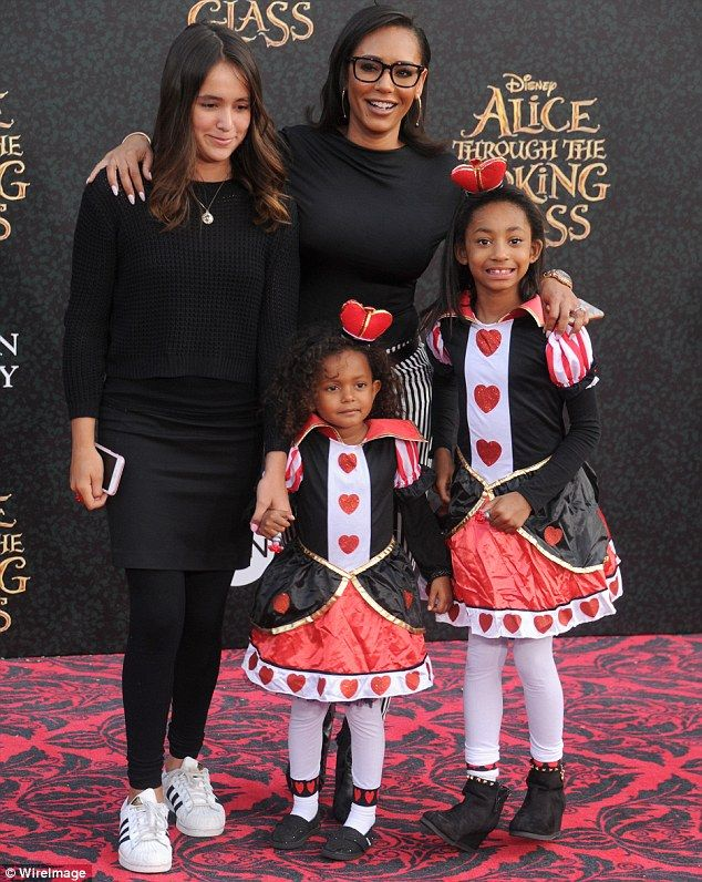 Spice Girls in training: The 55-year-old is also father to Mel B's daughter Angel (far rig...