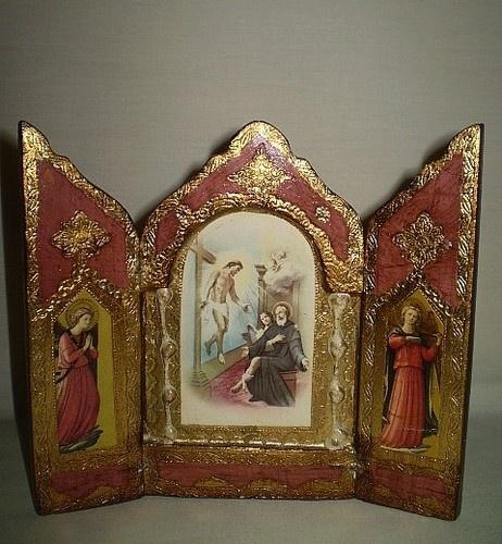 Vtg Florentine Triptych