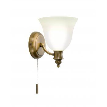 The Lighting Book OBOE traditional antique brass bathroom wall light   code:DAR-OBO0775 £76.20 (FREE UK Delivery)