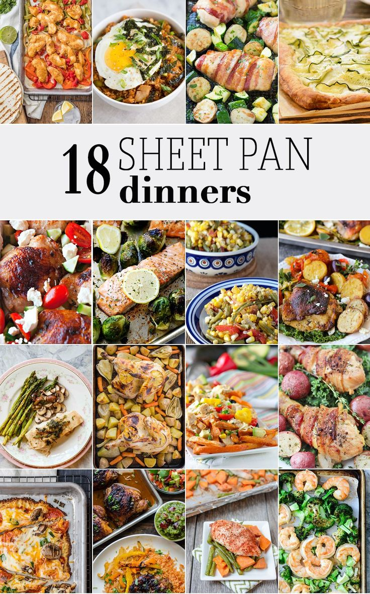 Sheet Pan Dinners are the ultimate easy recipe for any occasion! Every type of sheet pan dinner from pizza to fajitas to breakfast!