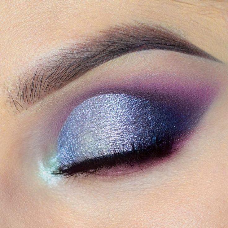 Vibrant Spring Makeup Tutorial by Anshu. Makeup Geek Eyeshadows in Wisteria, Fashion Addict, and Taboo. Makeup Geek Foiled Pigment in Abracadabra and Telepathic. Makeup Geek Gel Liner in Immortal.