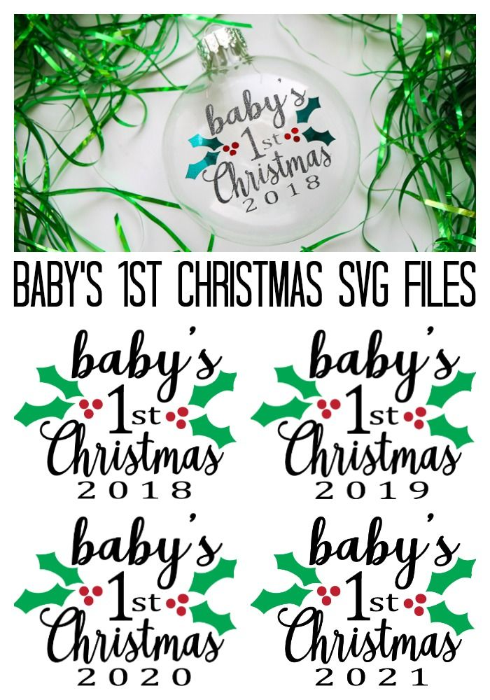 Download This Free Baby S First Christmas Svg File Cricut Christmas Ideas Christmas Svg Files Baby First Christmas Ornament