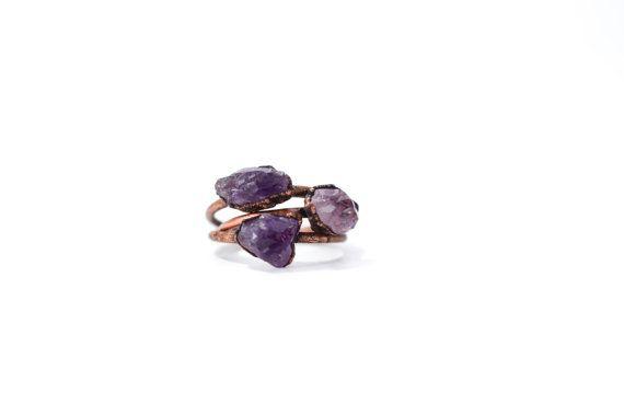 Amethyst ring  Amethyst birthstone jewelry  Stackable by HAWKHOUSE