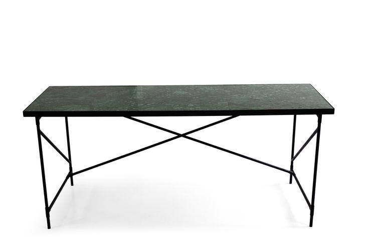 Desk: BLACK // Green Marble