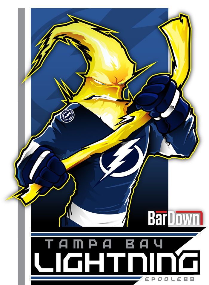 The Tampa Bay Lightning receive the weakest of Eric Poole's mighty artistic powers. I blame Jamie Foxx. He ruins everything.  More (and better!) Eric Poole work at http://epoole88.tumblr.com