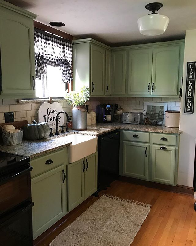 Sherwin Williams Clary Sage Kitchen Cabinet Styles Green Kitchen Cabinets Refacing Kitchen Cabinets