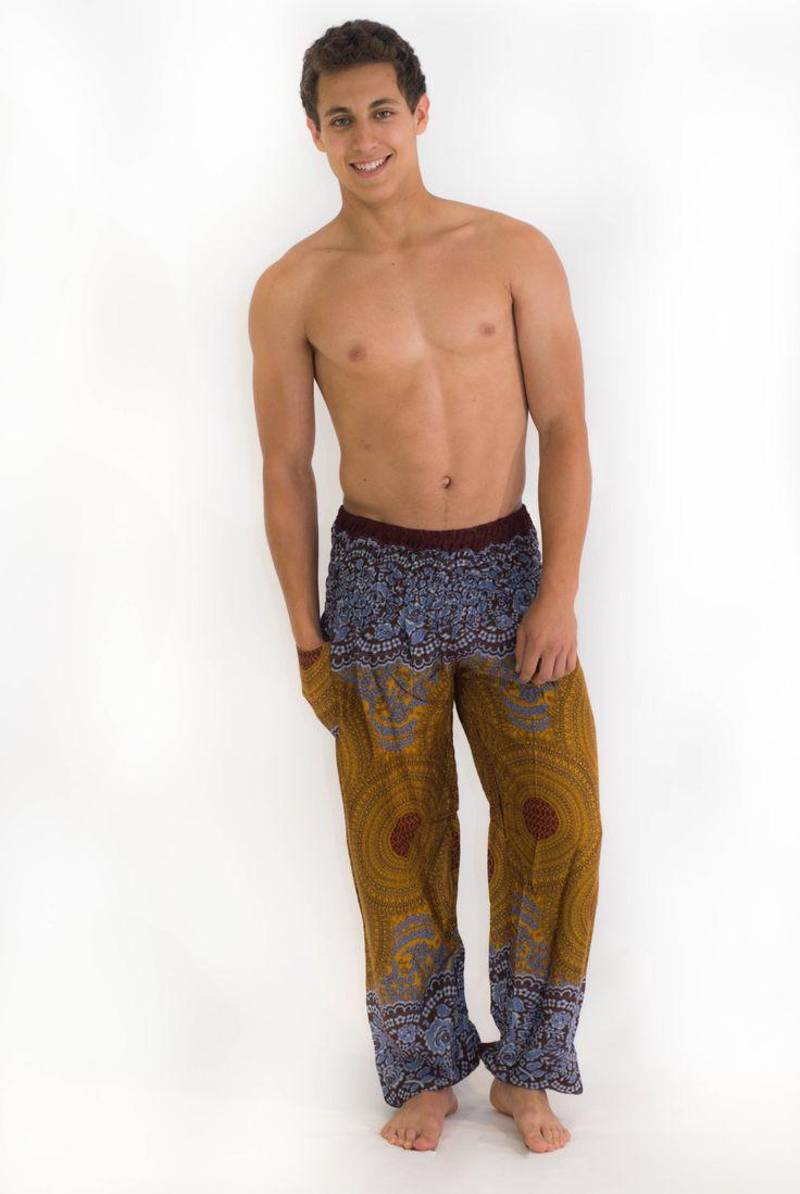 Bronze Geometric Mandala Harem Pants $24.00