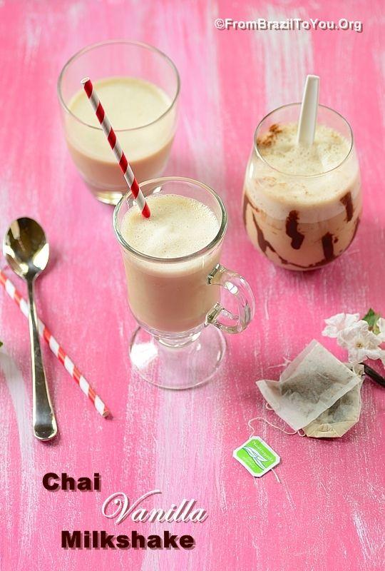 Chai Vanilla Milkshake: Super creamy and resfreshing...The taste of Paradise!!!!!! Recipe: http://www.frombraziltoyou.org/recipes/chai-vanilla-milkshake-and-vacation-in-colorado/