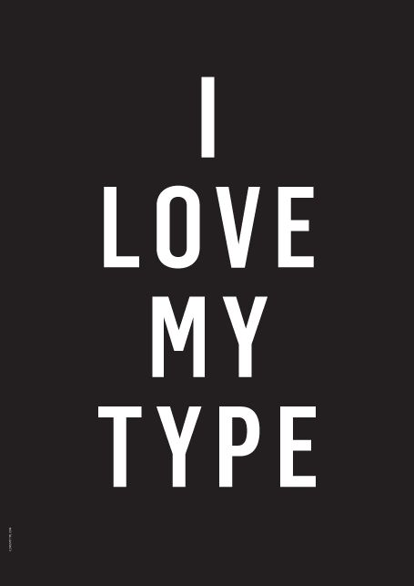 Posters from I Love My Type for sell in the shop www.interiordelights.eu