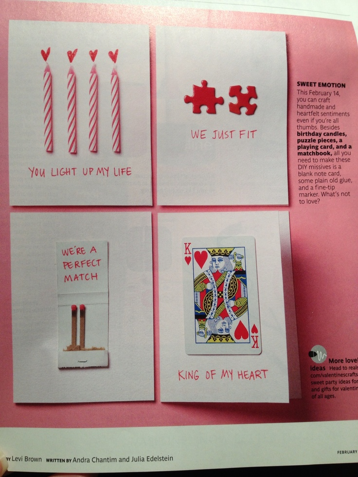 Great DIY Valentine's or anniversary cards