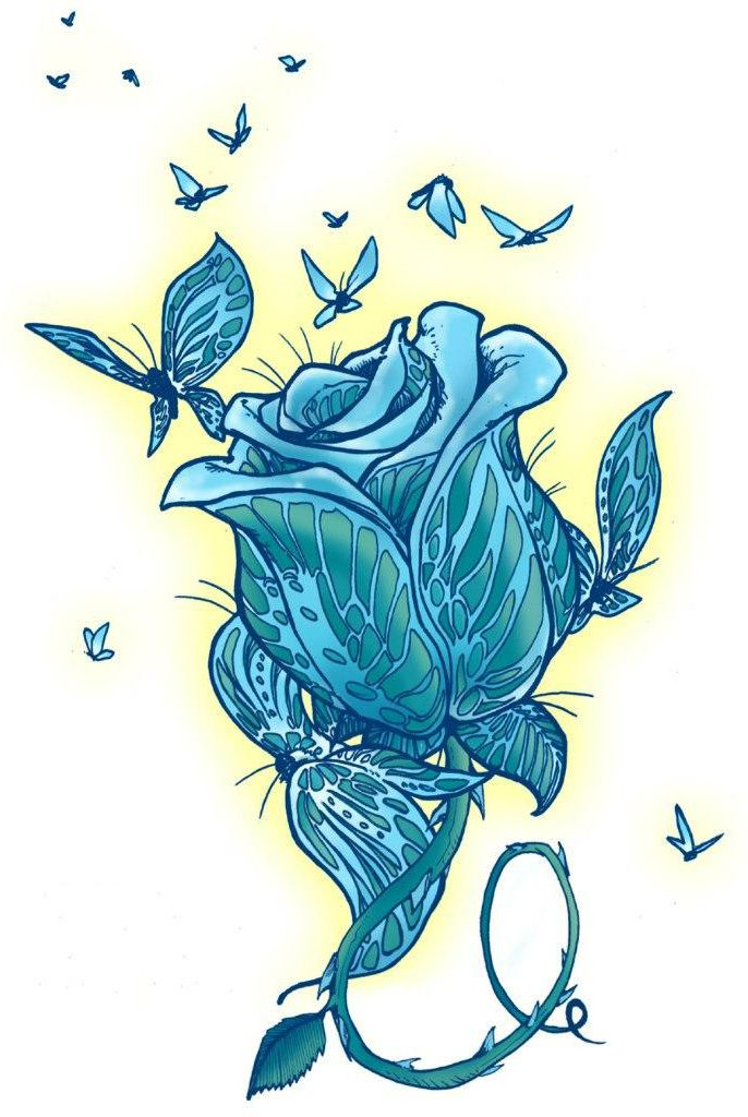 Roses And Butterflies Drawings Best 25+ Rose d...