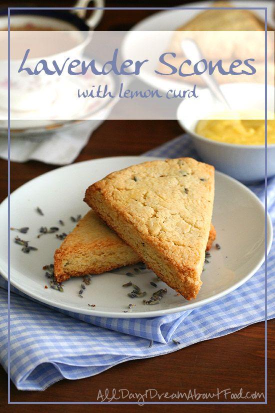 Gluten Free Low Carb Lavender Scones with Sugar-Free Lemon Curd