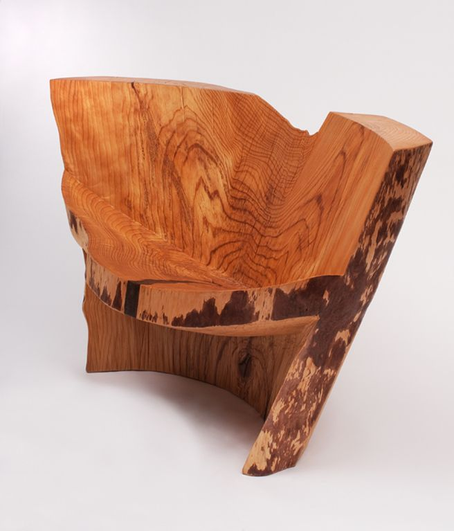"""""""Pine Chair"""" Carved Pine Chair by Howard Werner 