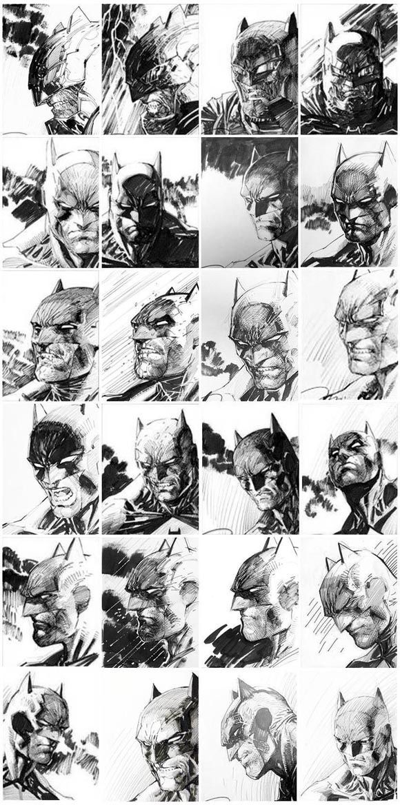 Super Rare: Dark Knight III Jim Lee 5K 1:5000 original cover sketches.  Click the pic and find out more...