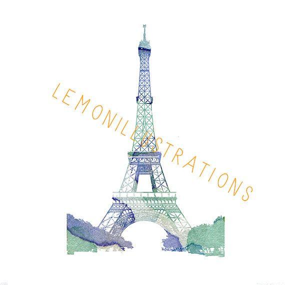 Parijs illustratie giclee print schilderij door Lemonillustrations