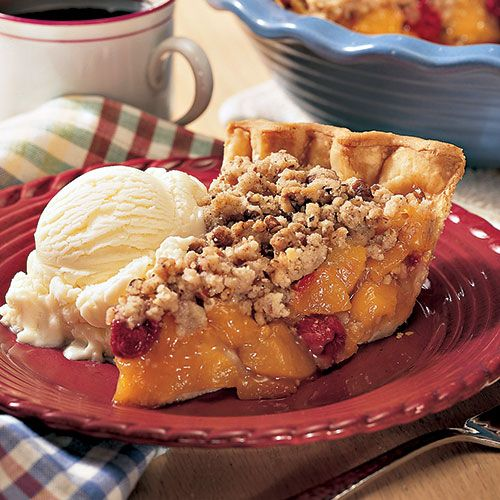 The classic combination of peaches and raspberries is easily achieved for a…