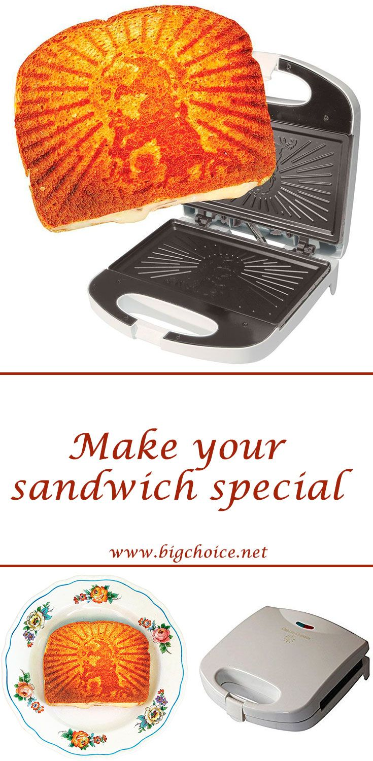 Add something special to your morning! Buy grilled cheesus sandwich press to toast the face of Jesus on every sandwich.